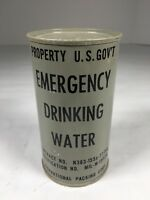 Vintage 1952 U.S. Government Emergency Drinking Water 10z Can Unopened
