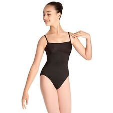 NWT Dance Bloch Black Pleated Front Camisole Leotard Ladies Small Adult L2640