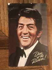 Riviera Hotel Casino Dino Dean Martin Autographed Postcard Las Vegas 6¢ Stamp