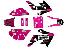 Pink  CRF 50 Decal Graphics Sticker Kit CRF50 Fairing PIT PRO Dirt Bike 50-125cc