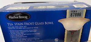 Harbor Breeze Tea Stain Frost Glass Bowl Item # 87886 (Open Box)
