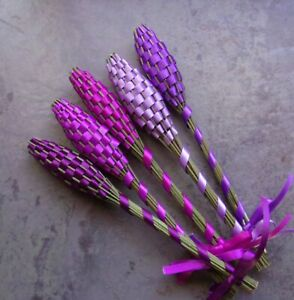 Lavender Filled Wands Gift Set of 5 Small Fragrant Regal Purples Handmade