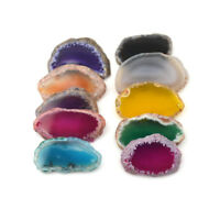 New Natural Agate Slices Geode Polished Slab Brazil Crystal Quartz Ornament FY