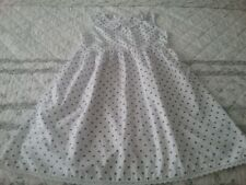 Girls Pre-owned Dress Good Condition Vogue Fashion Size 5 White/Gold