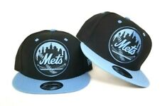 New Era New York Mets Black University Blue Snapback hat Jordan 6 Retro UNC