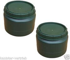 2 x 25 L grün Futtertonne Weithalsfass Transporttonne Camping Outdoor Behälter