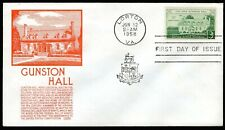 1108 3c Gunston Hall FDC Anderson orange cachet June 12,1958 faults