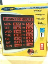 Newon Business Hours Lighted Sign - NIB