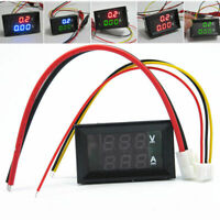 DC 0-100V 10A 50A 100A Digital Voltmeter Ammeter Dual LED Amp Volt Meter / Shunt