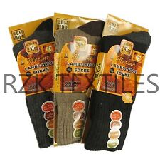 3 Pairs Of Men's Merino Wool Socks, Outdoor Walking Work Boot Socks, UK 6-11
