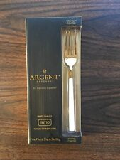 Hampton Forge Argent Orfevres Five Piece Place Setting Set 18/10 Stainless Steel