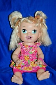 """Baby Alive Interactive Talking Doll """"Snackin Sara"""" By Hasbro 2014 Works."""