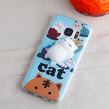 3D Protective Washable Squishy Love Cat Case Cover for Samsung Galaxy S7 Edge