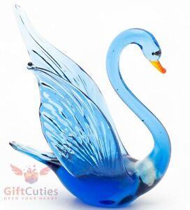 """Glass bird Swan """"murano"""" figurine handmade"""