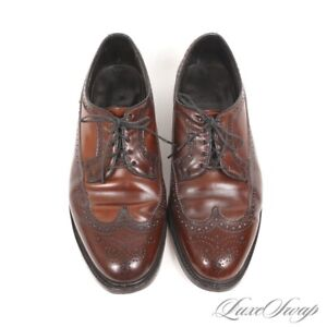 #1 MENSWEAR Anonymous Genuine Shell Cordovan Two Tone Longwing Shoes 12 EEE/E NR