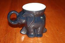1985 Frankoma Republican Party GOP Elephant Mug Reagan Bush Collectible GUC
