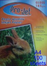 ProJet A4 Gloss 185 GSM Photo Inkjet Paper 100 Sheets
