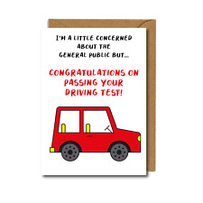 FUNNY Congratulations PASSED DRIVING TEST Card Funny Well Done Gift