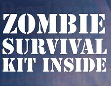 Zombie Kit De Supervivencia dentro Novedad gracioso car/van/window / calcomanía