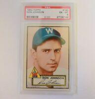 1952 Topps Don Johnson #190 PSA 6 EXMT