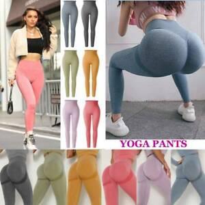 Women Sports Yoga Pants Gym Fitness Push Up High Waist Leggings Workout Trousers