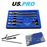"US PRO Tools 9pc 1/4"" 3/8"" 1/2"" Dr Extension Bar Set, Sockets bars 4190"