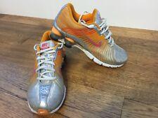 Womens Nike Shox Sneakers Size 6.5 Running Shoes orange/grey