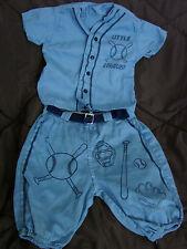 Vintage 50s Childs BASEBALL Costume Boys 3-4 Little League VGC 2pc set Uniform