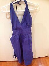 Diana Ferrari Blue Halter Above Knee Dress Size 10