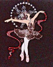 New ChemArt Ballerina 24K Gold Solid Brass Ornament