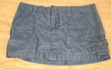 """Mossimo Size 1 Carco Mini / Micro Blue/Green Skirt Stretch 11"""" Long"""