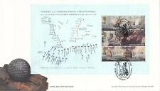 (32683) GB FDC Trafalgar FULL Booklet Pane Burnham Thorpe 2005 NO INSERT