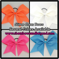 Glitter Cheer Bows (Several Color Options)