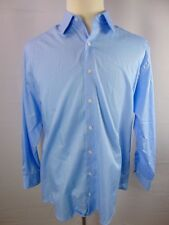 Kenneth Cole Reaction Blue Long Sleeve Button Front Dress Casual Shirt Mens 16.5