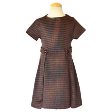 Zara Girls Dress Brown Chic Pleated Size 8