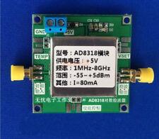 1Mhz - 8000Mhz RF Power Meter, AD8318 -55dBm ~ +5dBm.