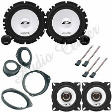 KIT A309 CASSE FIAT PUNTO EVO 07> ANT+POST ALPINE SXE-1750S +SXE-1025S 165+100MM