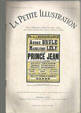 LA PETITE ILLUSTRATION N°176 - LE PRINCE JEAN PIECE NOUVELLE EN 4 ACTES C. MERE