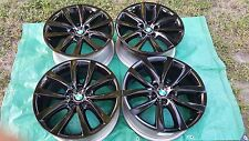 "19"" BMW FACTORY ALLOY WHEELS (4) 5 SERIES 6 SERIES BEAUTIFUL GLOSS BLACK 2011-15"