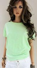 MARCCAIN Damen Sweatshirt N5 42 XL Baumwolle hellgrün Print Pullover Shirt