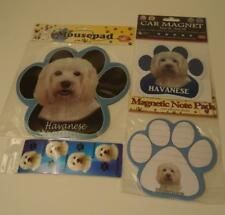 Havanese Dog Magnetic Sticky Notepad + Mousepad Bookmark & Car Magnet