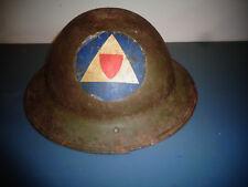 ORIGINAL WW1 WWI STEEL DOUGHBOY HELMET W/LINER & INSIGNIA