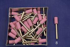 "25X 1/2""x 1/4"" Barrel Pink Grind Stone Alum Oxide bit Dremel's or Rotary Tools"