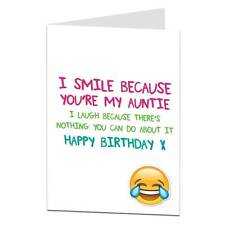 Funny Birthday Card For Auntie Aunty