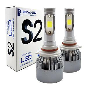 2x S2 HB3 9005 LED Bulb Headlight Conversion Kit High Power 6000K Bright White