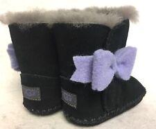UGG Australia Kids Baby Girl's Cassie Bow Infant Black Boot XS US 0-1 Infant M