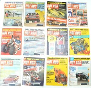 1971 Hot Rod Magazine Complete Year Lot of 12 Vintage Man Cars Full Collectible