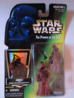 STAR WARS Power of The Force Figure - JAWAS Green Hologram - NICE!