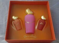 NINA RICCI DECI DELA Edt 30ml spray+ parfum 5ml+ Edt concentree 5ml. Rare.