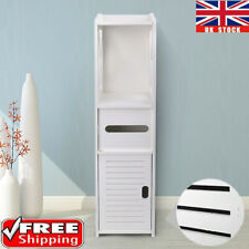 Modern Wooden Bathroom Cabinet Shelf Cupboard Storage Toilet Unit Free Standing